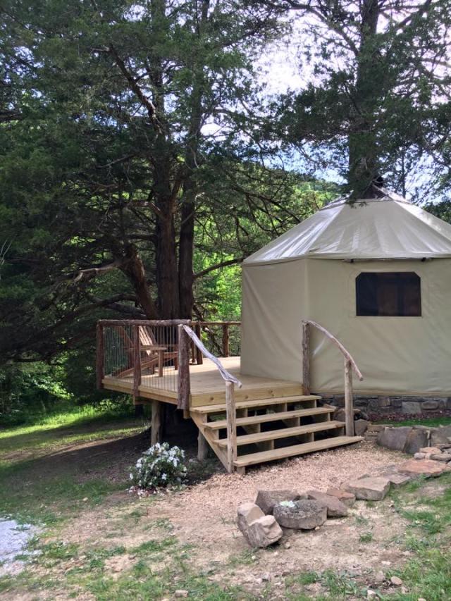 Treehouse Yurt Ponca Arkansas Nightly Rental