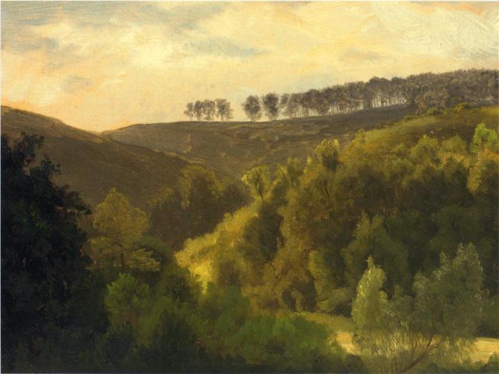 Sunrise Over Forest And Grove, Albert Bierstadt