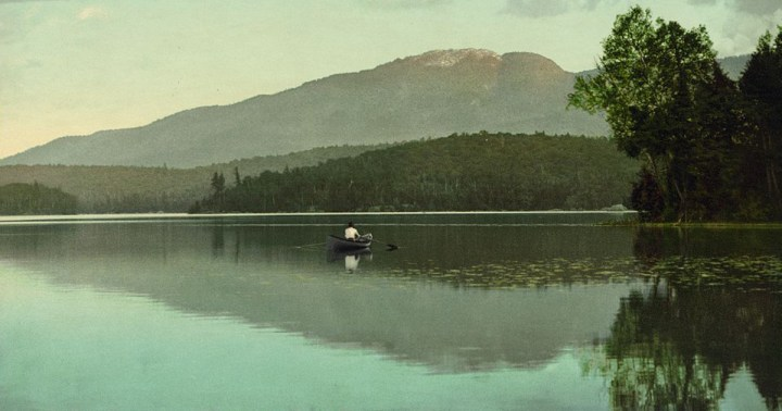 Mt. Ampersand from Round Lake, Adirondack Mountains, 1902.