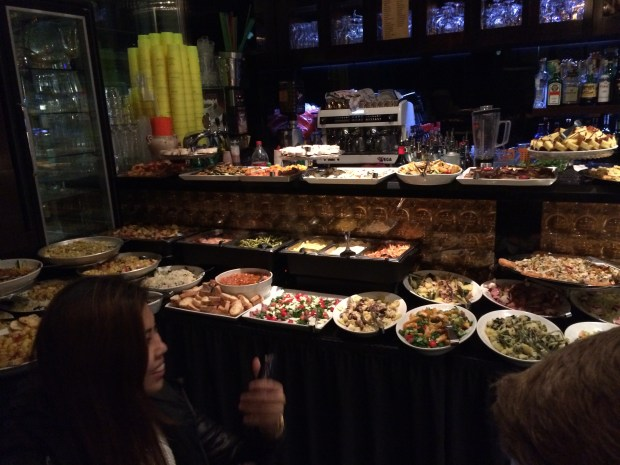That buffet was the best part of the Bar!