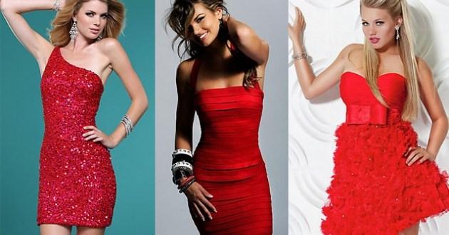 Vestidos de noche color rojo