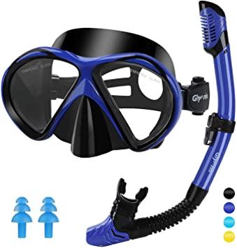 Vistas de las gafas de snorkel