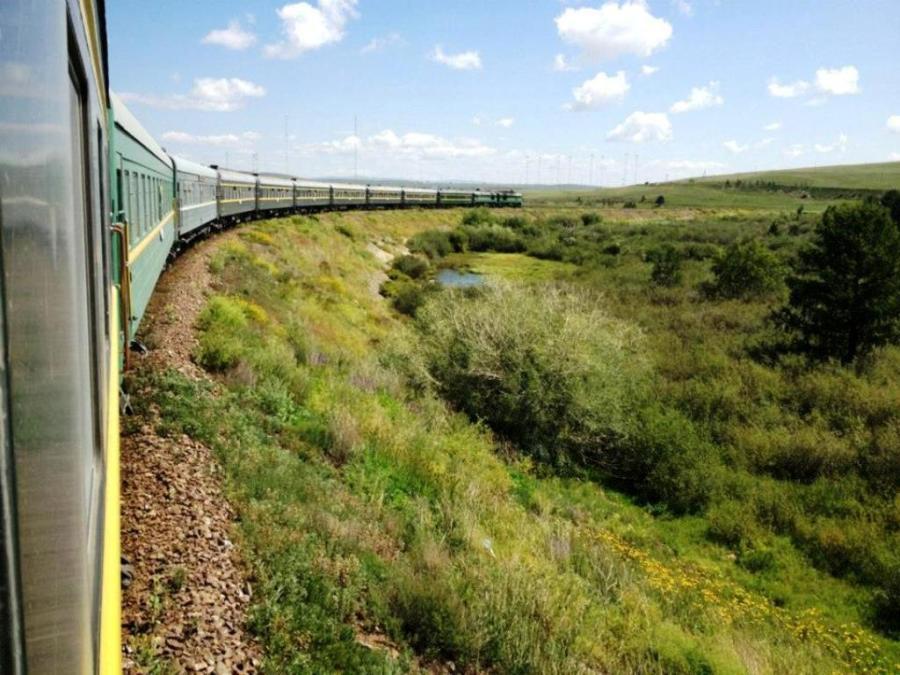 Ruta en tren por Mongolia