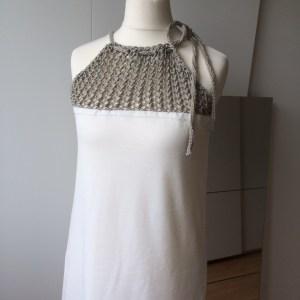LOTILDA Kleid mit Strickeinsatz nah