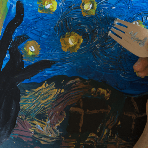 Art project for children inspired by Van Gogh