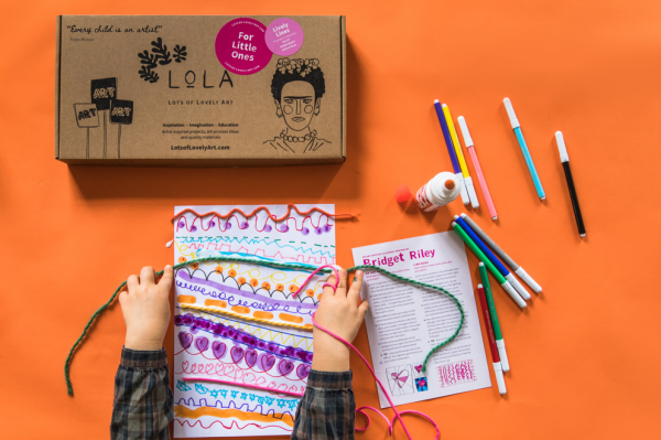 LoLA for Little Ones art craft box for kids Lively Lines