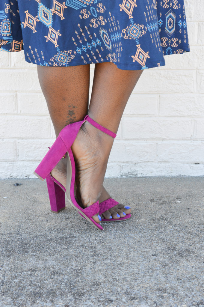 Styling a midi dress with heels