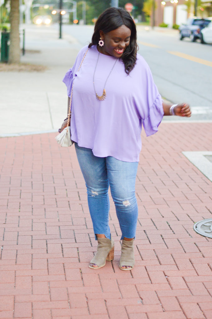 ruffle top trend booties fall outfits