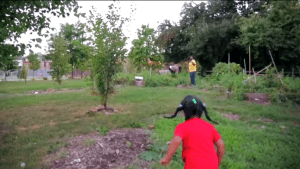 Still from Surprising Effects of Community Gardens