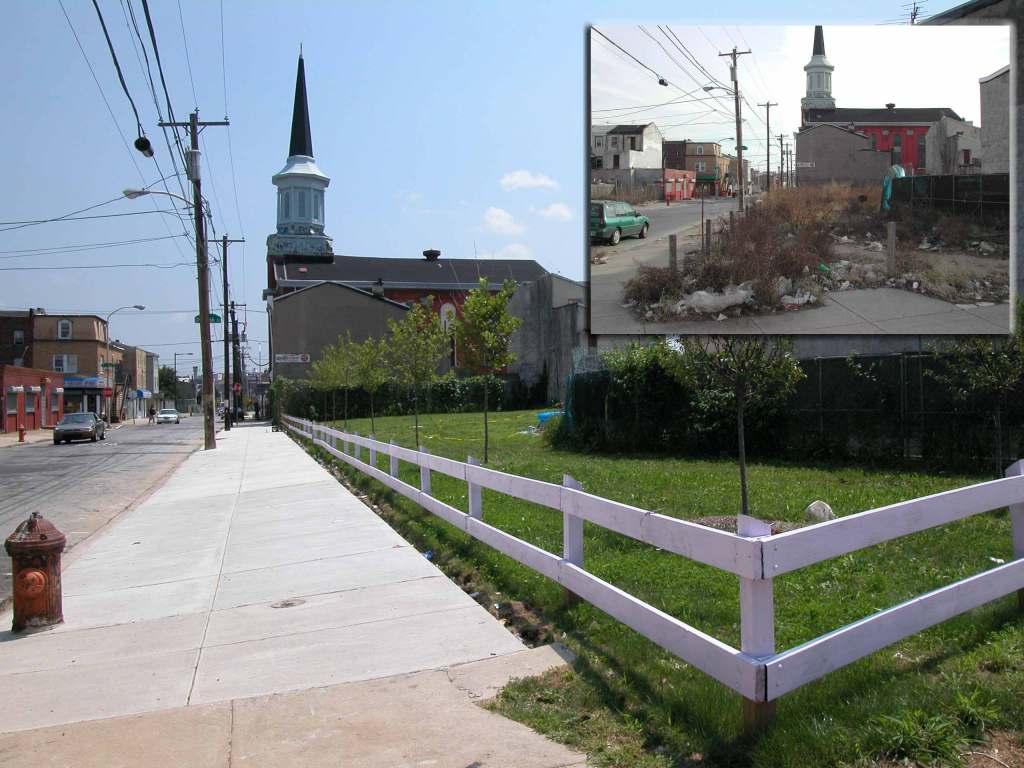 Corner lot in Philadelphia