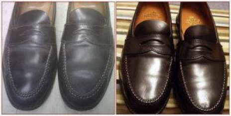 restoration before and after leather shoes