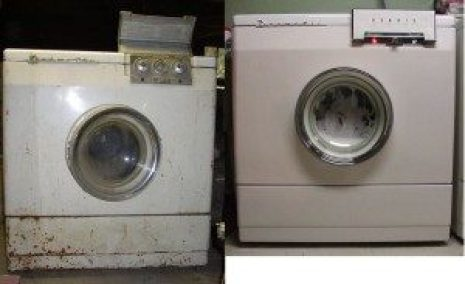 restoration before and after automatic washing machine