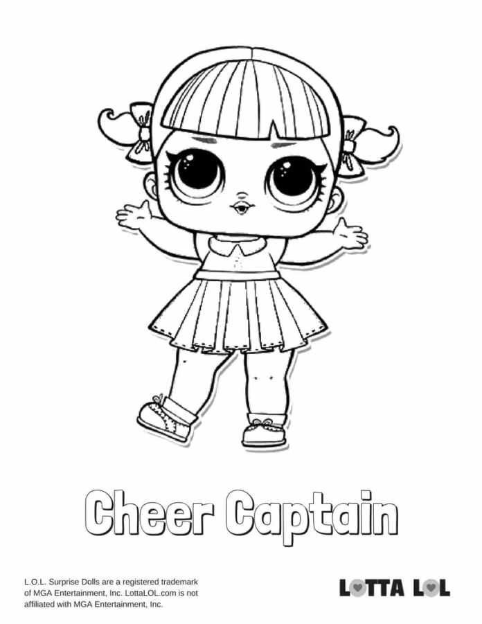 Cheer Captain LOL Coloring Page