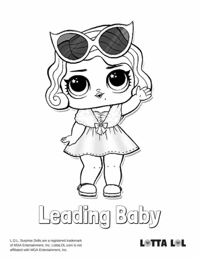 Leading Baby LOL Surprise Doll Coloring Page   Lotta LOL