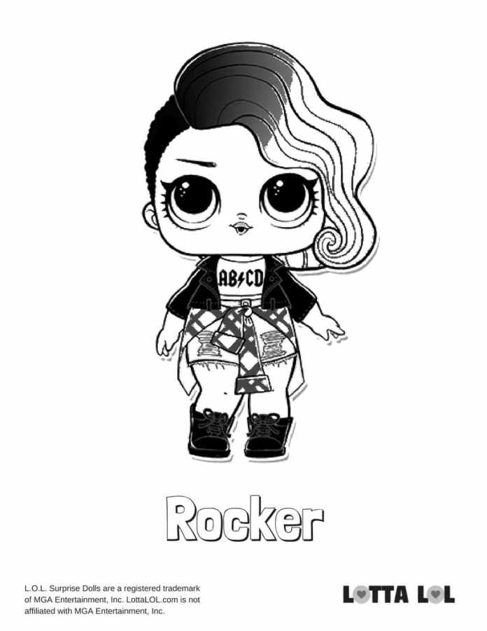 Rocker LOL Surprise Doll Coloring