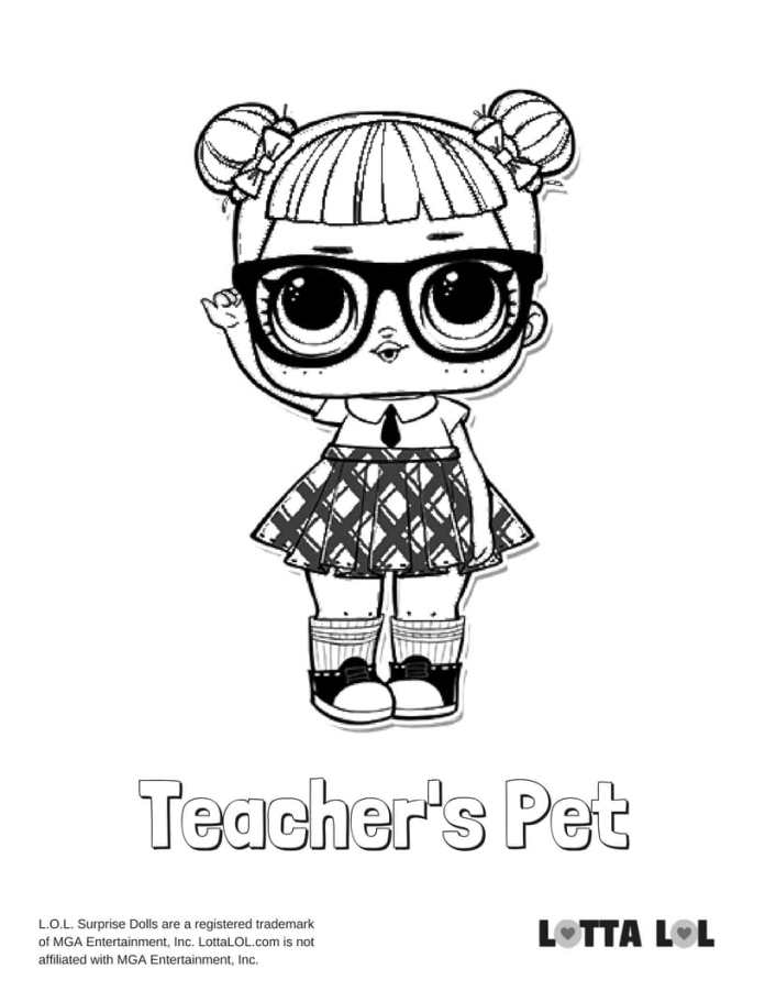 Teacher s Pet LOL Coloring Page
