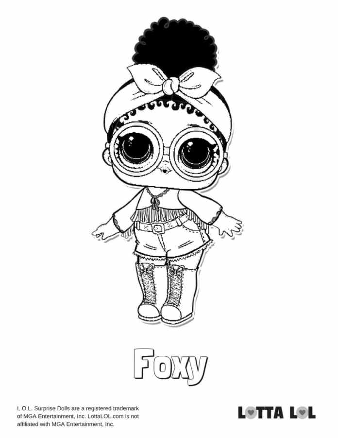 Foxy LOL Surprise Doll Coloring