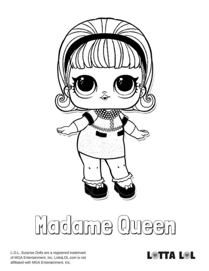 Madame Queen LOL Coloring Page