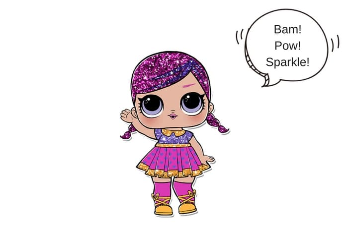 Super Glitter Lol Surprise Doll Coloring Lotta