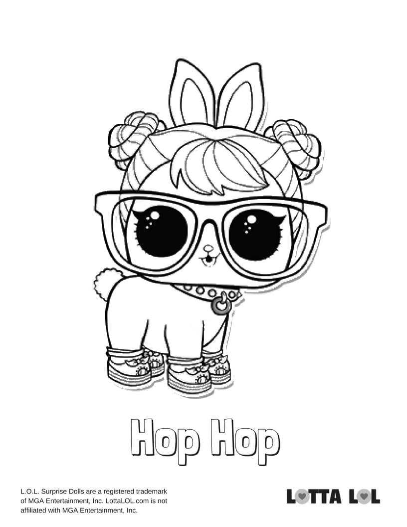 Hop coloring pages