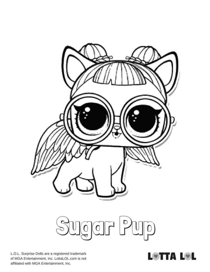 Sugar Pup LOL Coloring Page Lotta