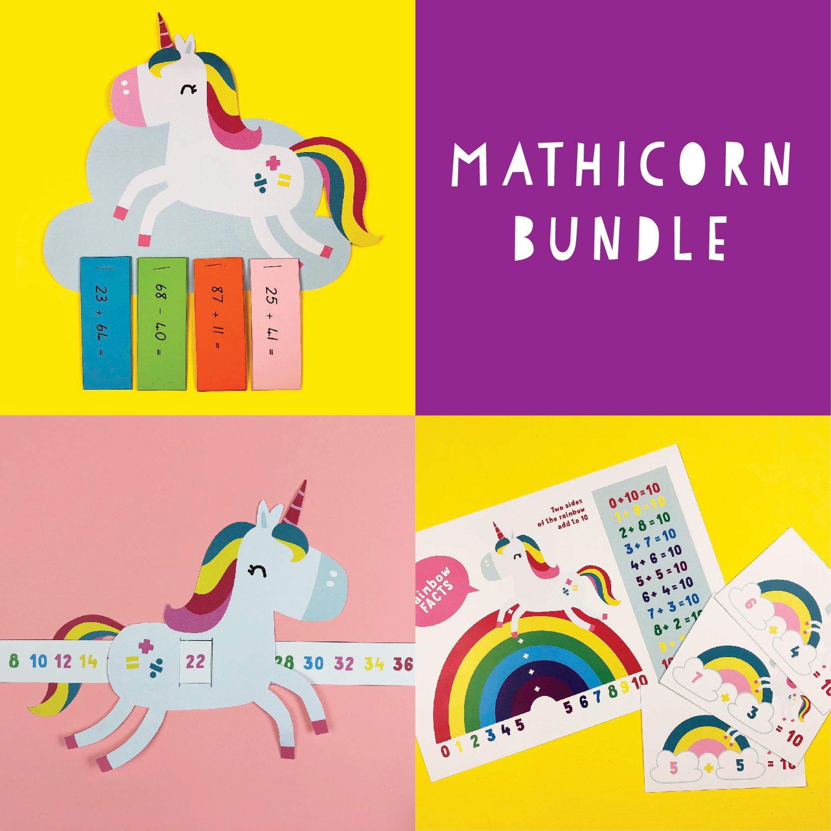 Mathicorn Bundle Grade Two Maths Printables