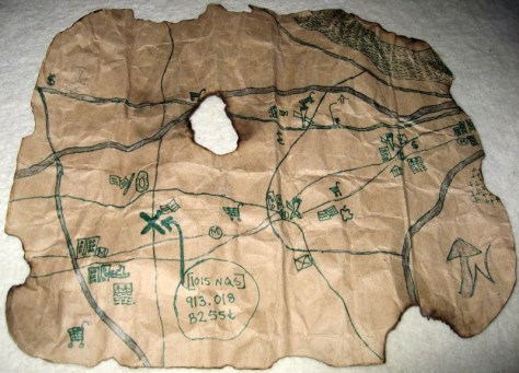 A treasure map, leading to the local library
