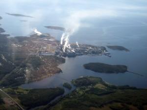 Aerial view of Husum, Sweden