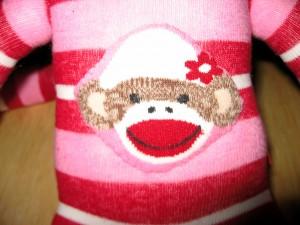 Sock Monkey - Finished - Belly Decoration