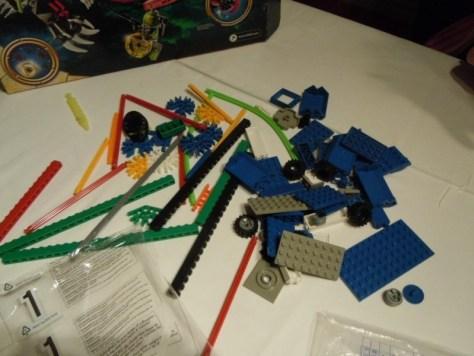 Lego Con: Knex pieces stuffed into Atlantis lego box