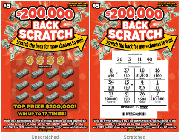 How to play new scratchie lottery game Back Scratch in North