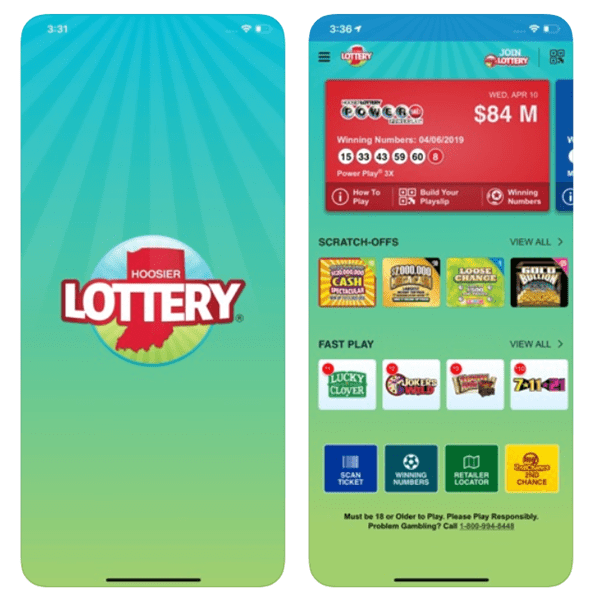 Features of the Hoosier lottery app
