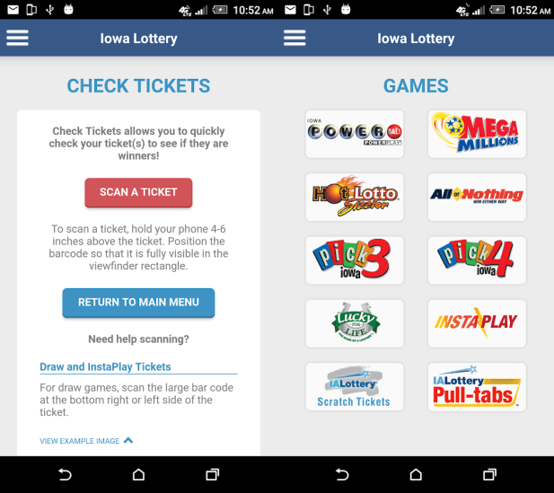 How can I check Iowa lottery results with my cell phone?