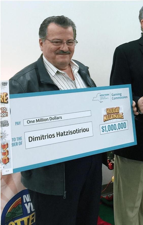 Lottery winner Dimitrios Hatzisotiriou