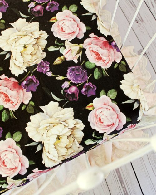 floral crib sheets baby girl fitted