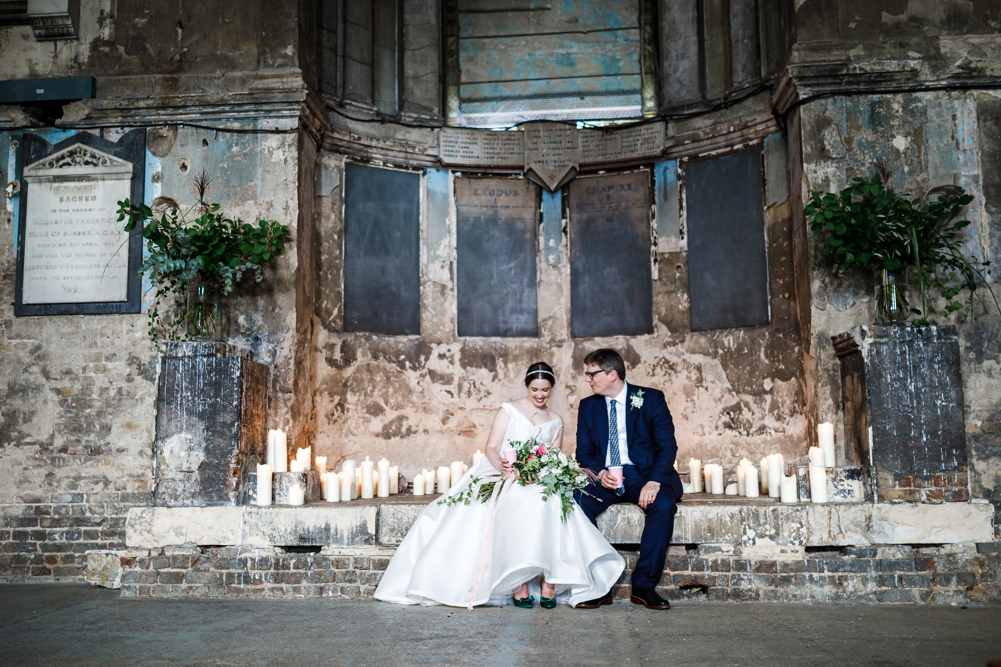 Super fun wedding at the Asylum in Peckham London