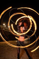 Double fire hoop performer uk