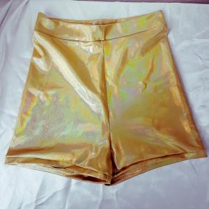 Gold High-waisted Hotpants