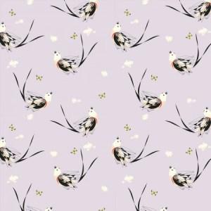 Birch Fabrics - Charley Harper - Scissortailed Fly Catcher