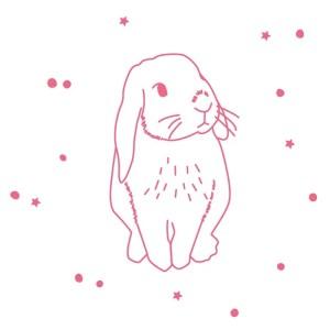 MIMI'lou Sticker - Lapin Rose