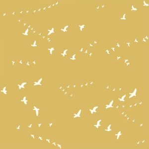 Bio-Baumwolle Birch Fabrics Birch Basics - Dot in Golden