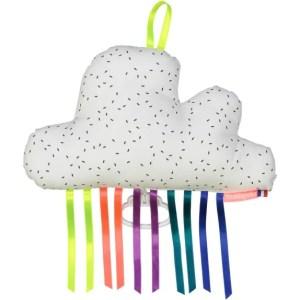 mellipou Mobile - Wolke weiß mit schwarzen Punkten