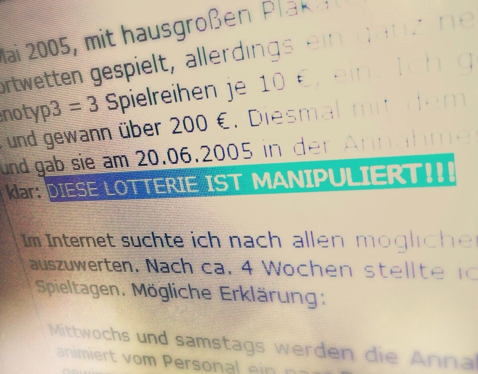 Lotto Manipuliert