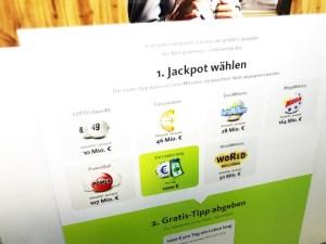 Jackpot auswählen bei Lottoland.gratis