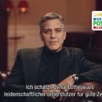 George Clooney als prominenter Botschafter für die Soziallotterie