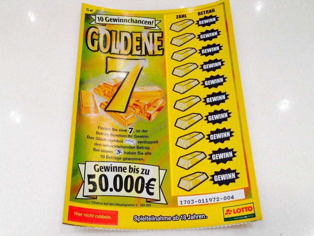 """""""Goldene 7""""-Los ungeöffnet"""