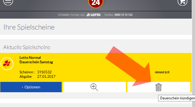 Lotto24 Dauerschein Kündigen