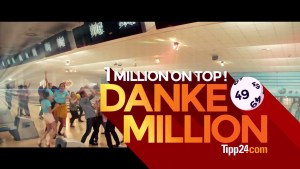 Ausschnitt Youtube-Werbespot DANKE-MILLION