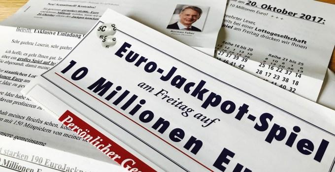 Faber Exklusive Einladung zur Jackpot-Jagd Brief 2