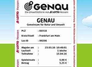 GENAU Spielquittung